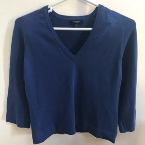 Burberry London Women's  Blue V Neck Sweater L